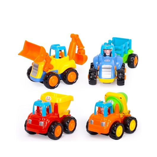 רכבי הנדסה שמחים - (Happy Engineering Vehicles Assorted (4 Pcs - צבעוני Colorful
